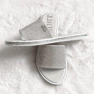 Juicy Couture Yummy Diamond Sandals Slides Sz 6